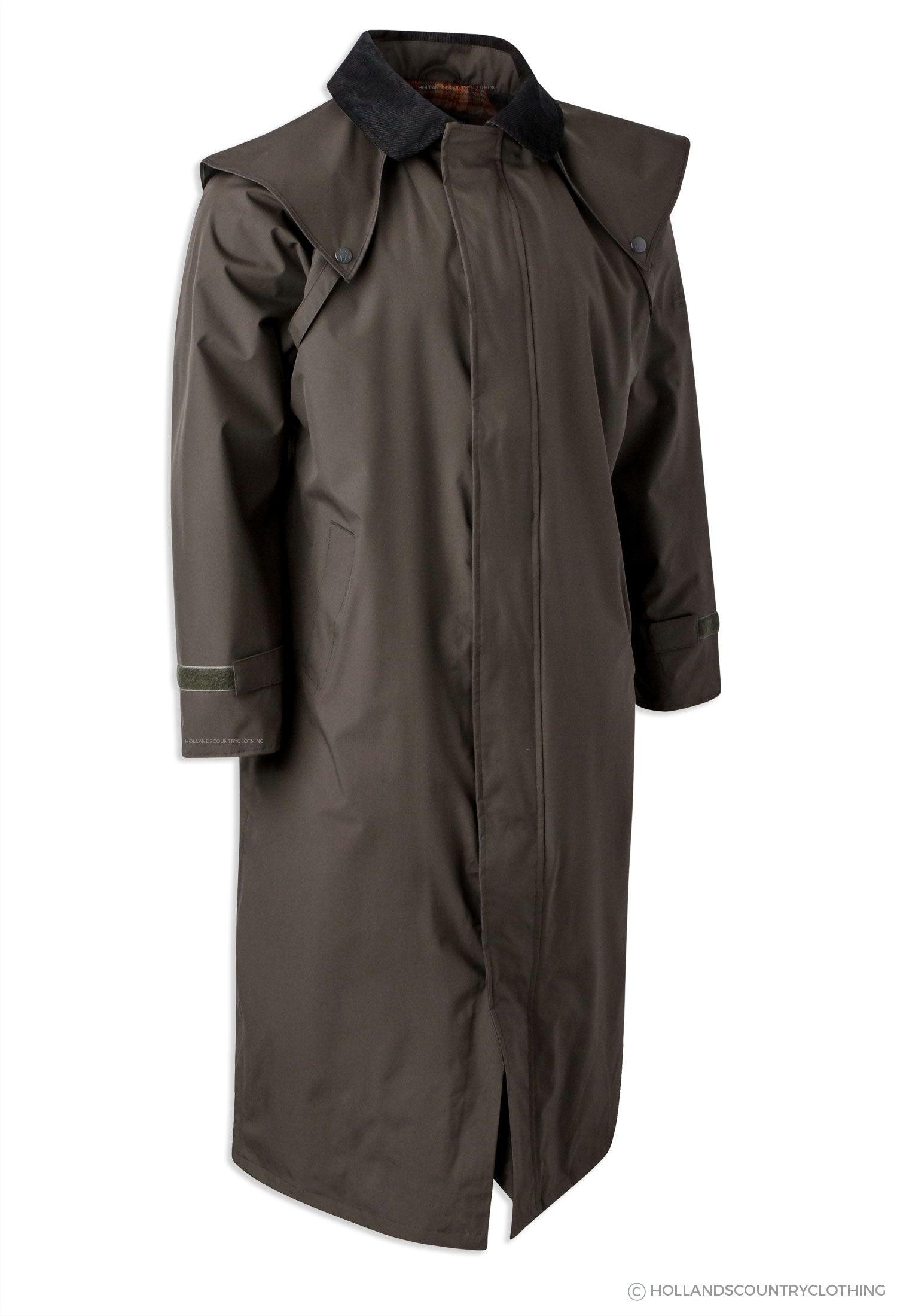 Jack Murphy Lambourne II Men's Long Bush Coat in olive