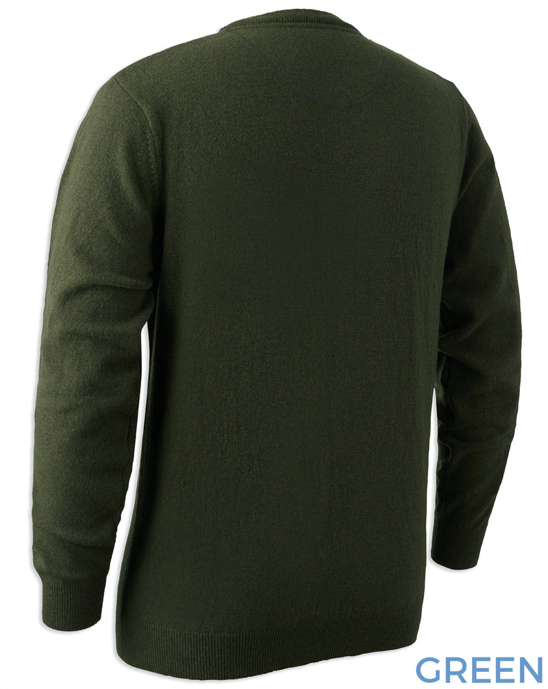 REar view Deerhunter Brighton Knitted Crew-neck Sweater