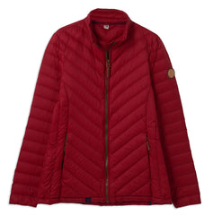 Deep Red Ladies Lara Quilted Down Jacket by Lighthouse