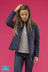 zip front Ladies Lighthouse Lara Down Jacket Navy