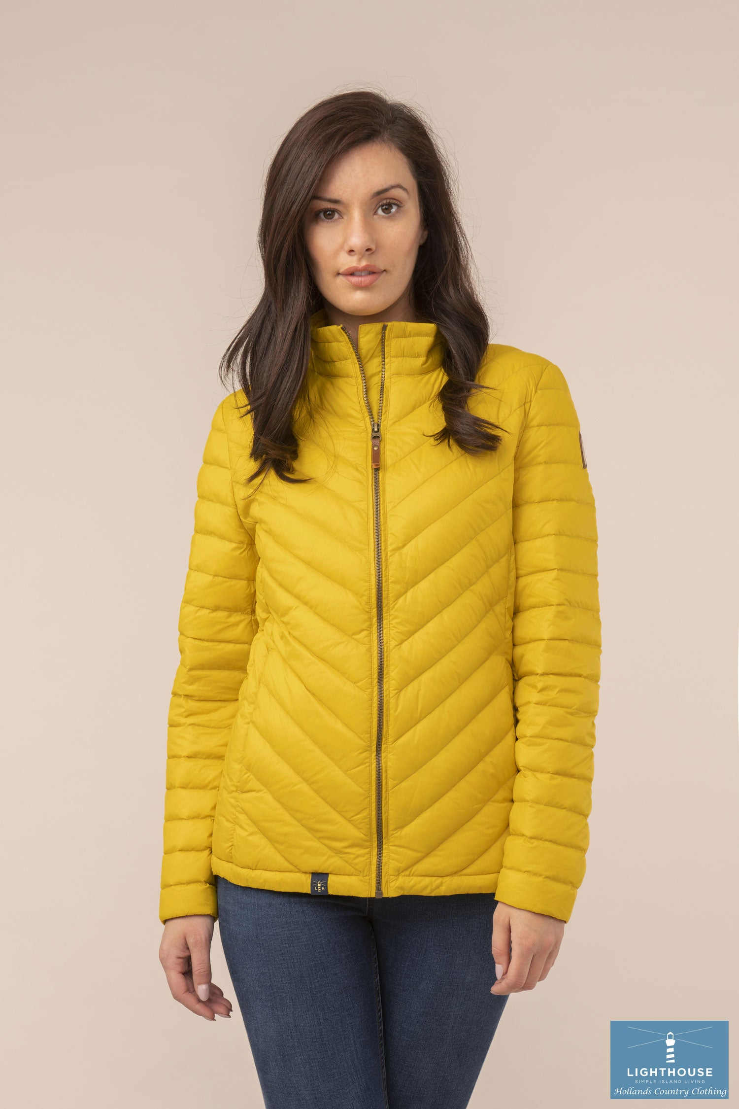 Ladies Lighthouse Lara Down Jacket Sunrise Yellow