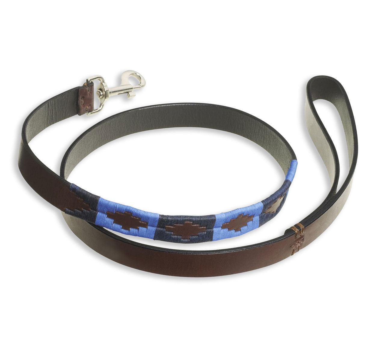Polo style Dog lead in Argentine Leather