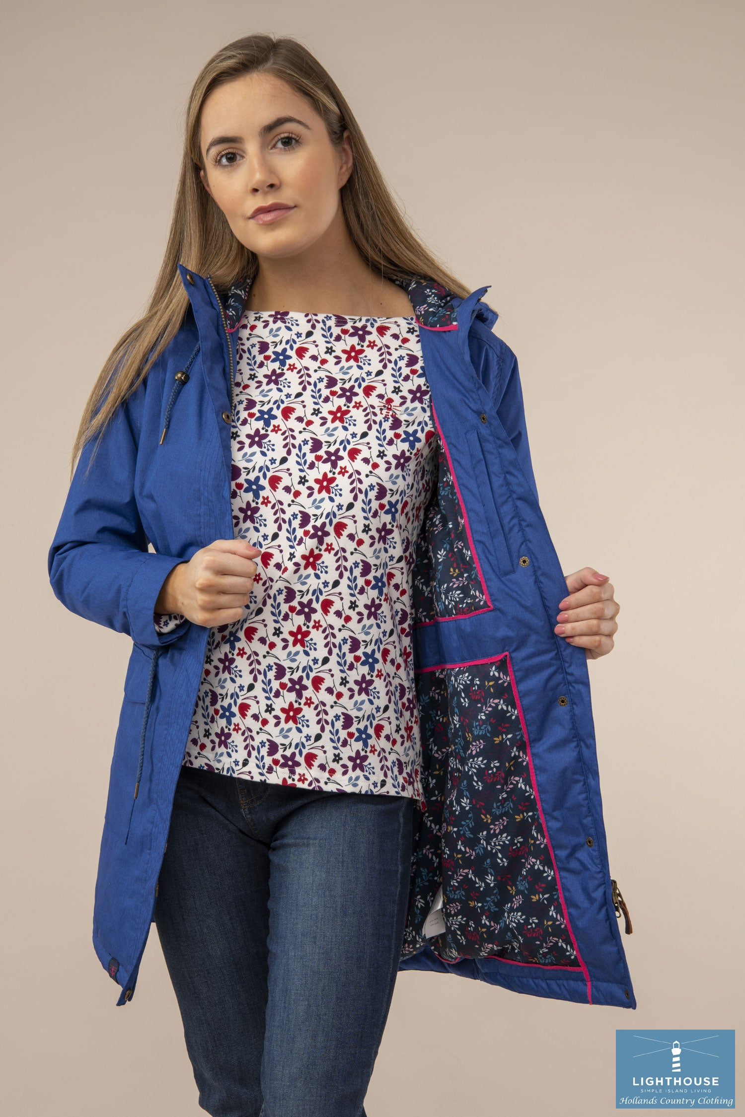Colourful lining Lighthouse Lauren Waterproof Parka Jacket