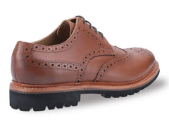 Cotswold Leather Goodyear Welt Commando Brogue Brown