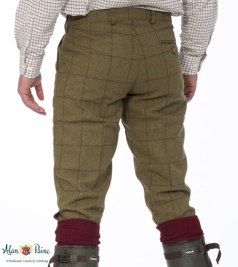 rear view Alan Paine Rutland Tweed Breeks | Lichen