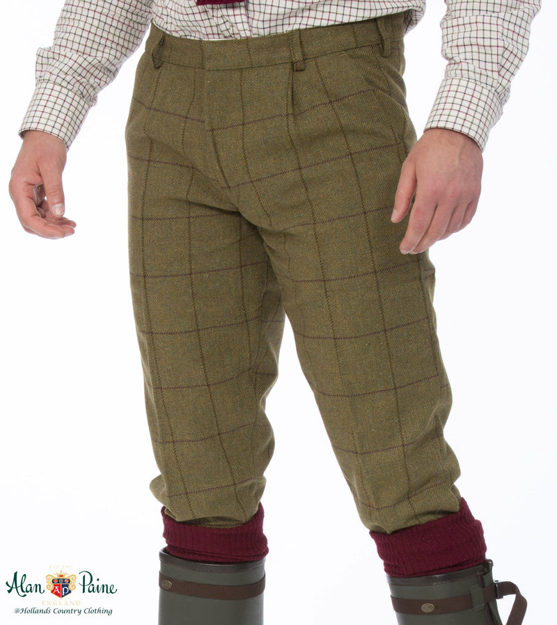 men's Alan Paine Rutland Tweed Breeks | Lichen