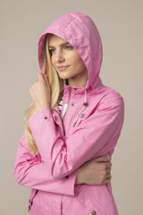 Soft Pink with hood up