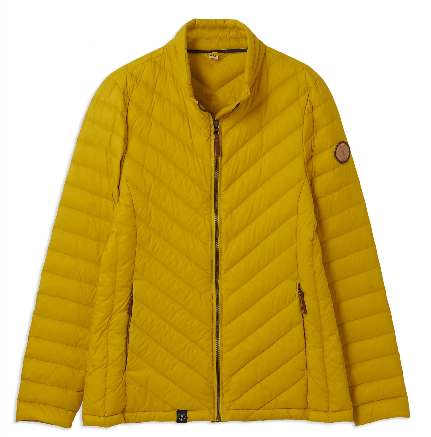 Sunrise Yellow Ladies Lara Quilted Down Jacket by Lighthouse