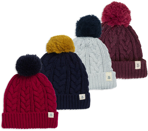 Lighthouse Hannah Bobble Hat | Four Colours