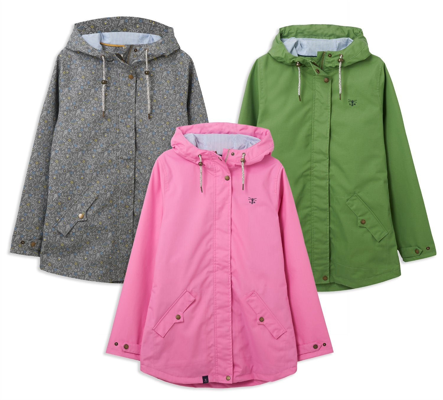 Lighthouse Tori Waterproof Jacket | Soft Pink, Meadow Green, Floral Print