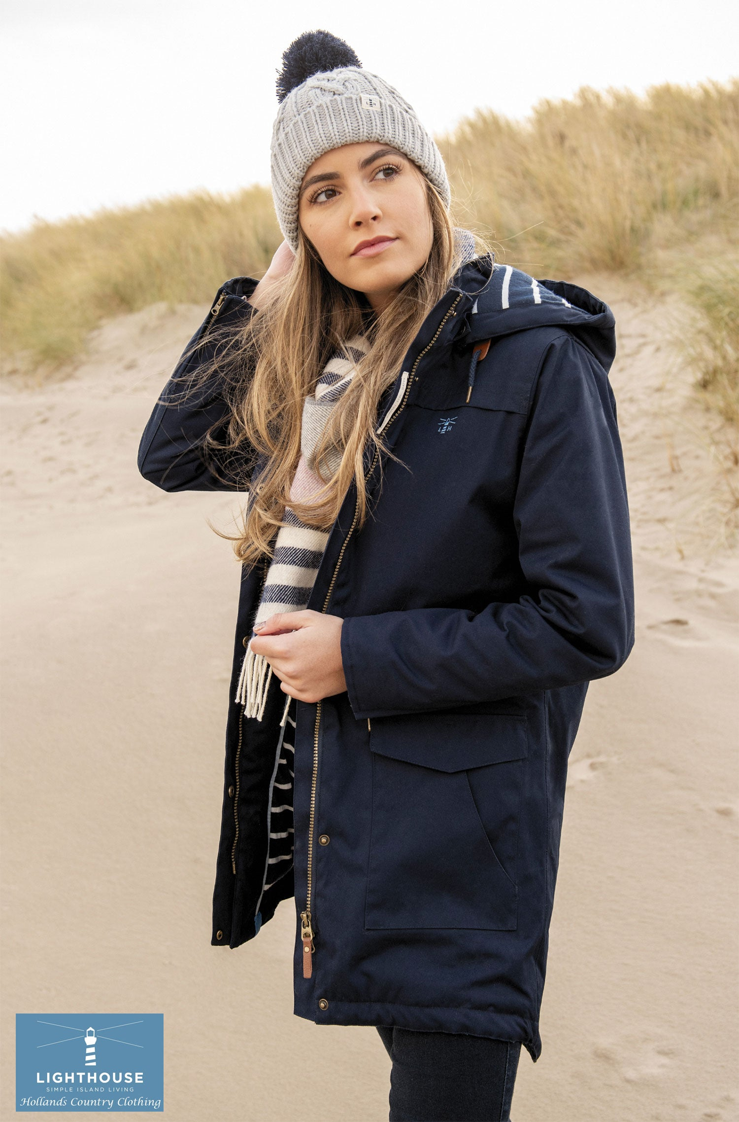 Waterproof Navy coat from Lighthouse