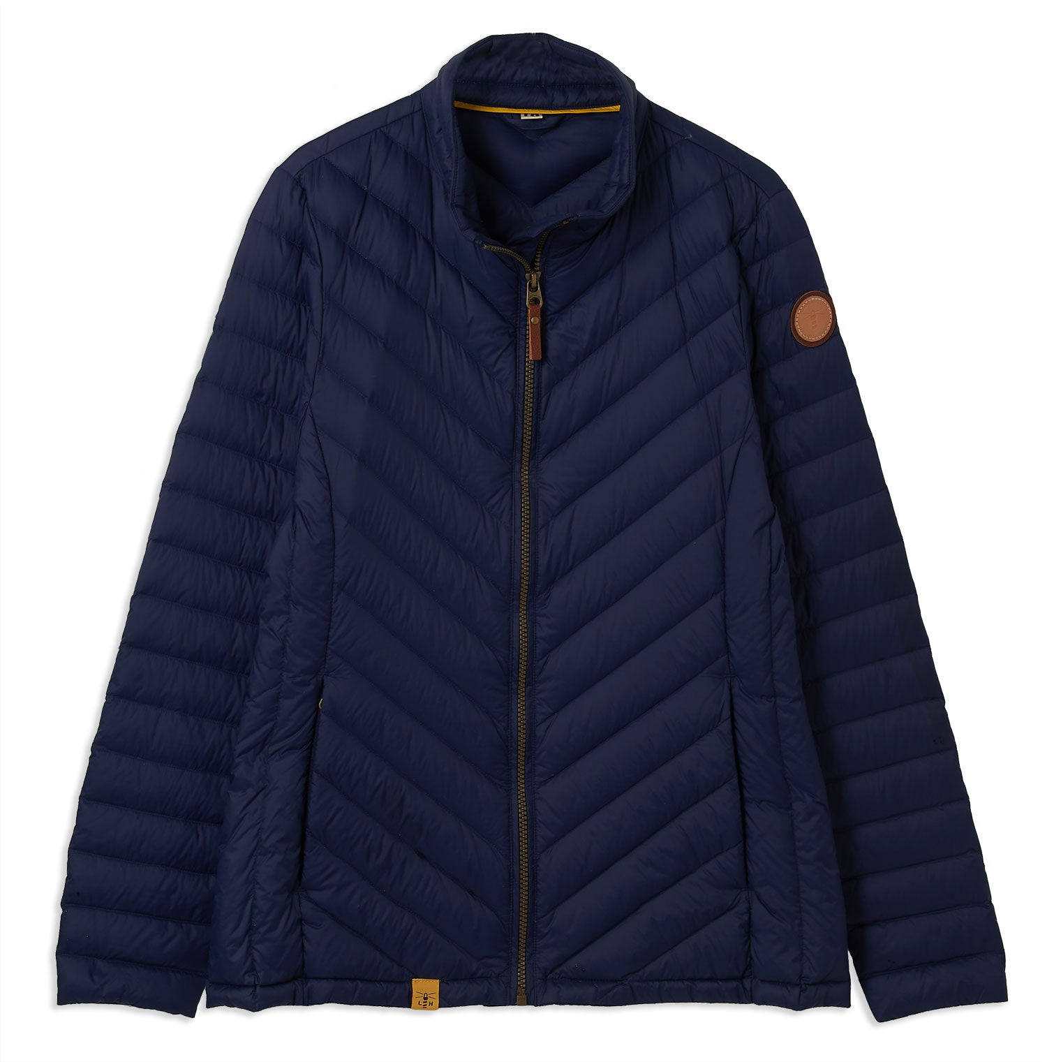 Navy Ladies Lara Quilted Down Jacket by Lighthouse