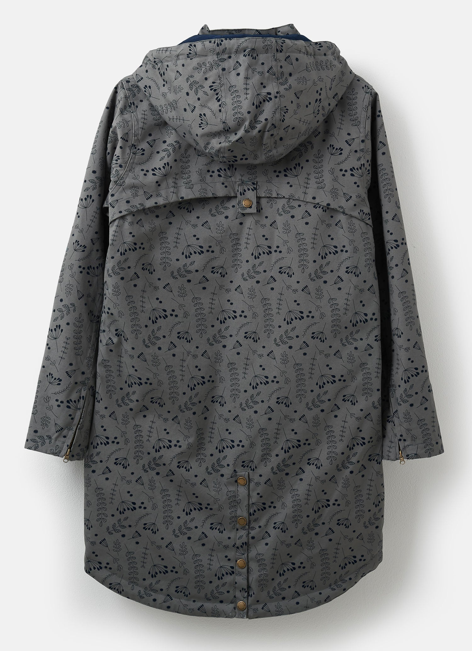 Back View Lighthouse Alanna Waterproof Parka Jacket | Grey Urban Print