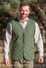 man wearing Hoggs Lightweight Quilted Waistcoat