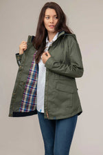 Tartan lining Lighthouse Kendal Waterproof Coat