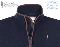 collar detail navy Jack Murphy Lottie Ladies Fleece Jacket.