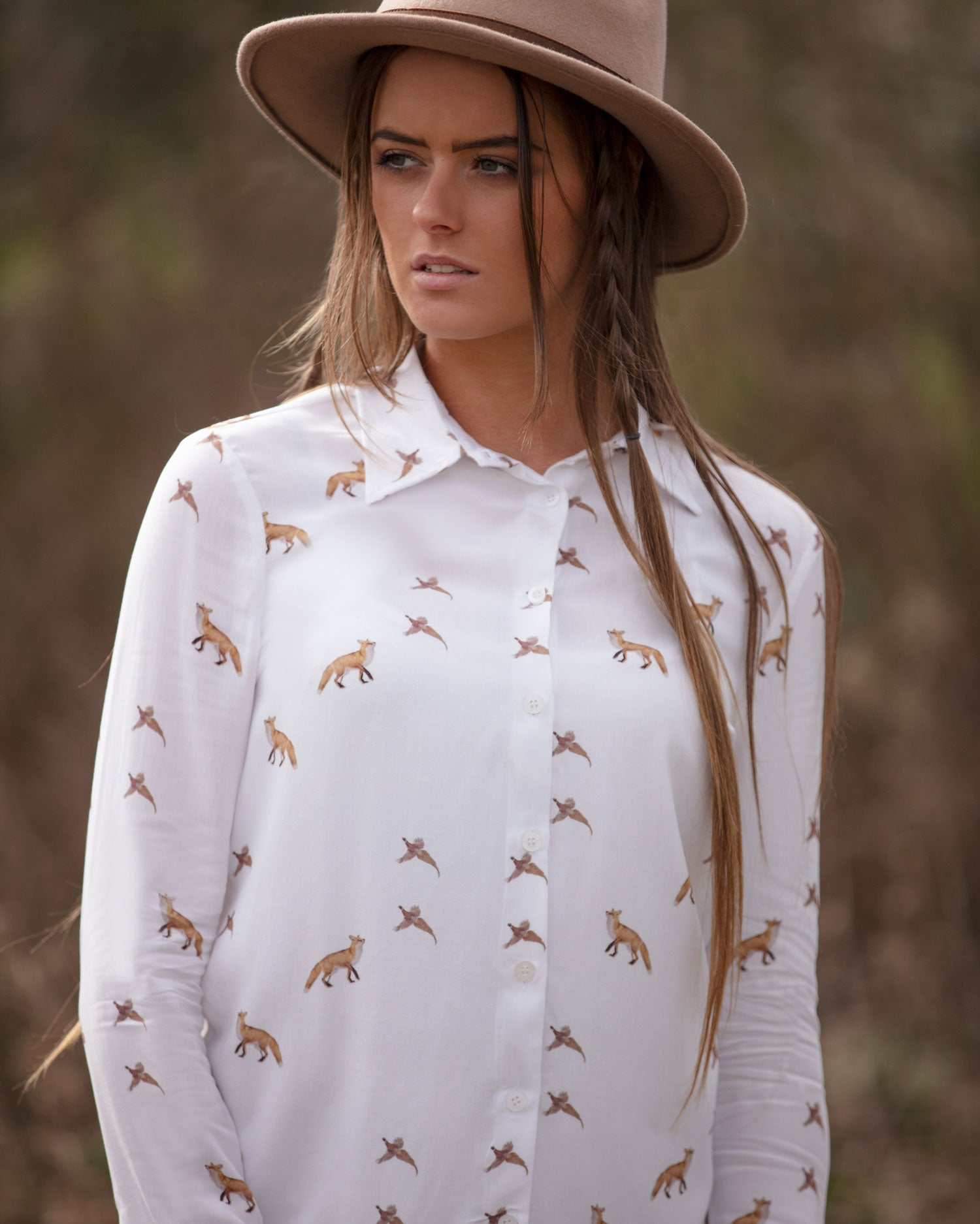 delightfully foxy ladies blouse