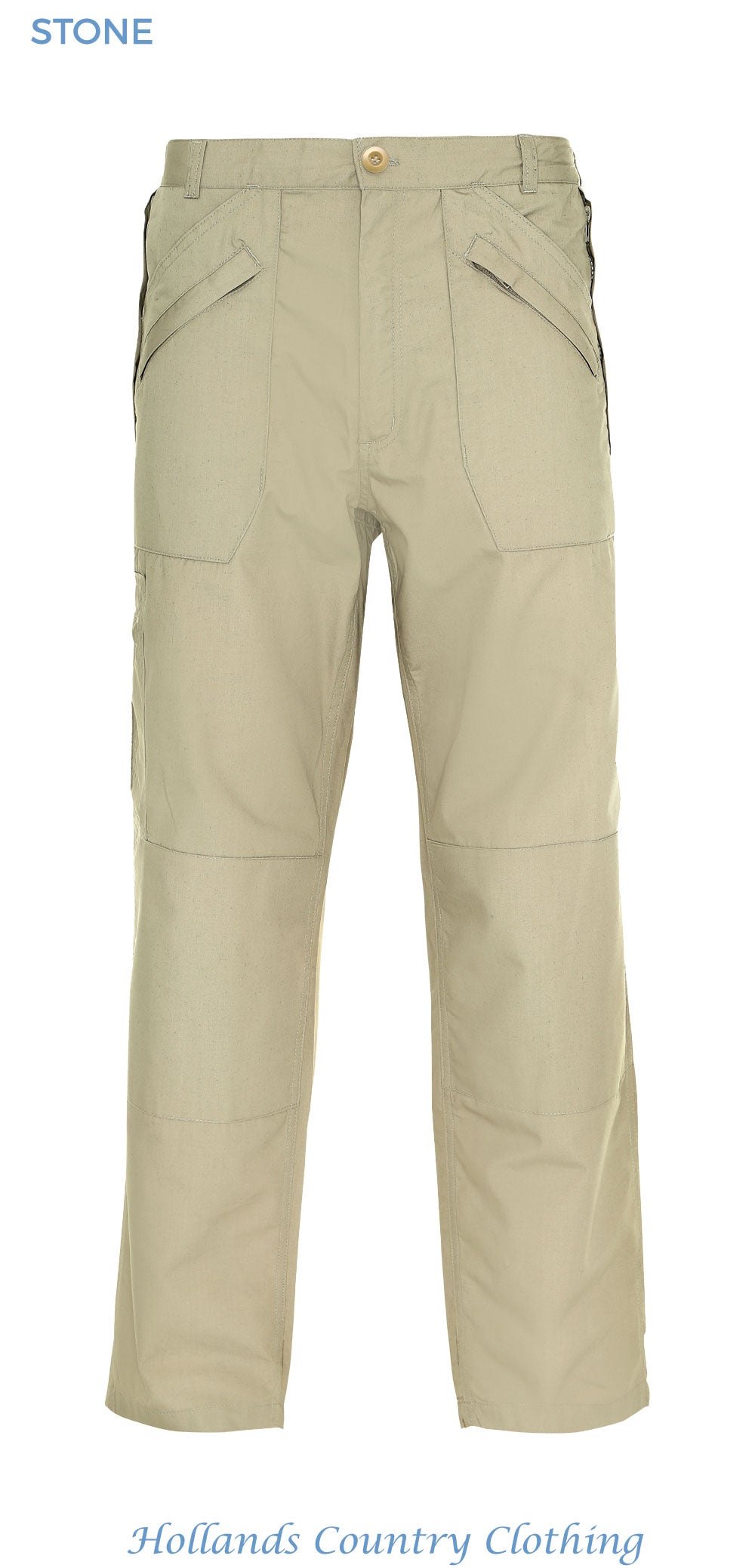 stone colour wenlock multi pocket action trousers