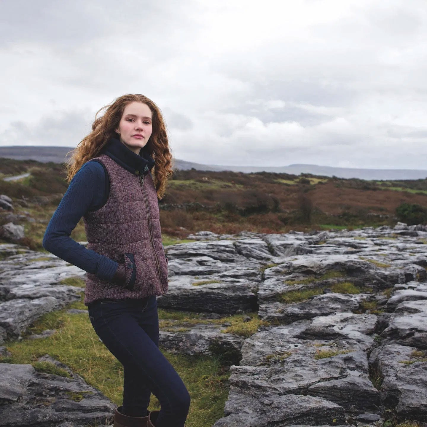 standout tweed gilet is packed with style and practicality