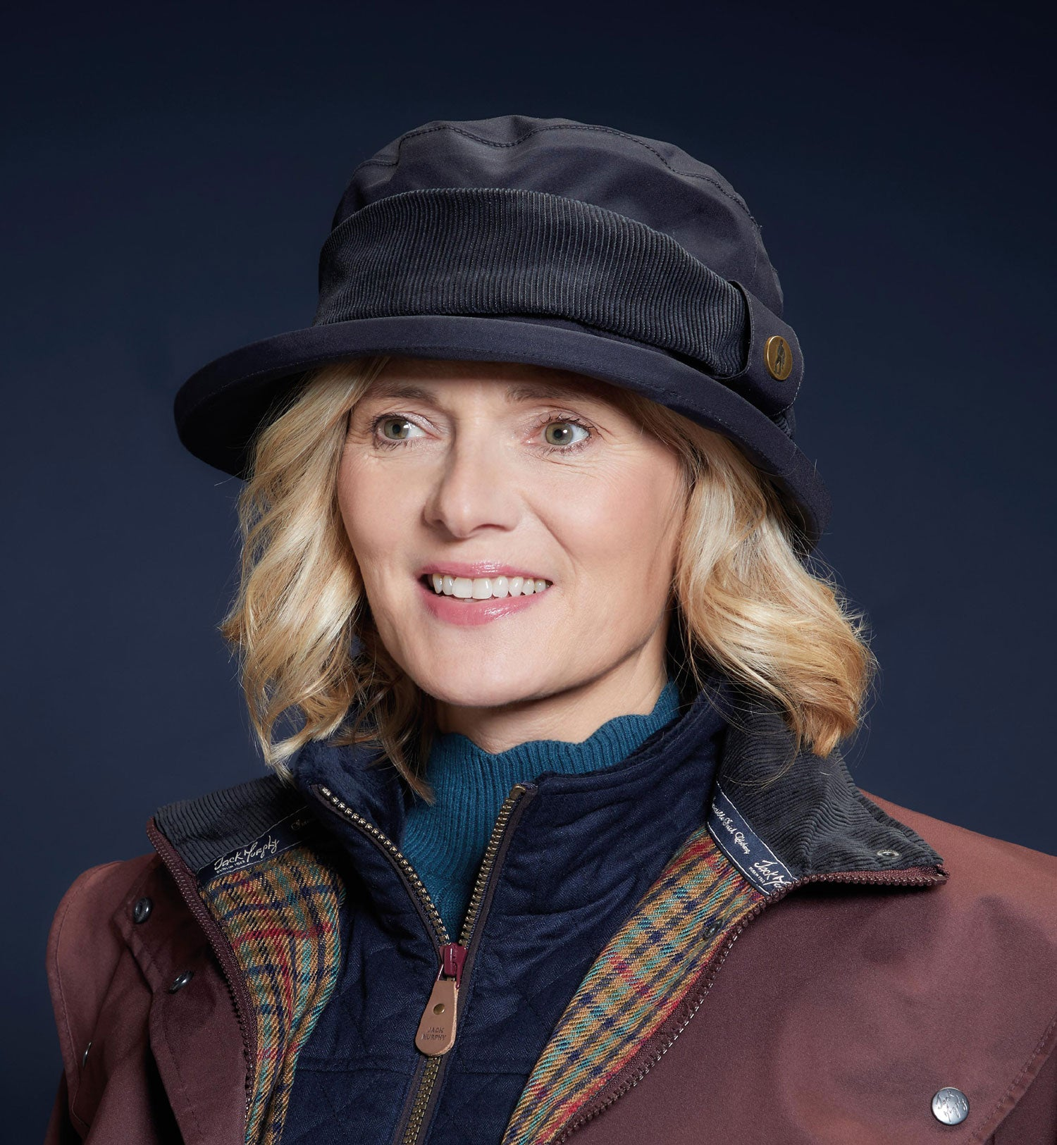 Navy Jack Murphy Malvern Waterproof Ladies Country Hat