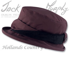 Jack Murphy ladies Waterproof Malvern hat deep claret