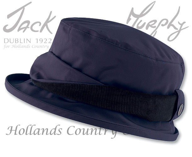 Jack Murphy ladies Waterproof Malvern hat navy