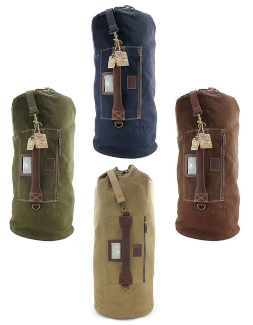 British Bag Company  Waxed Canvas Kit Bag | Brown, Navy, Khaki, Camel