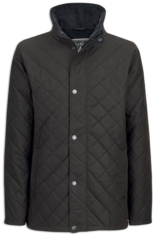 Jack Murphy Max Quilted Wax Jacket in brown