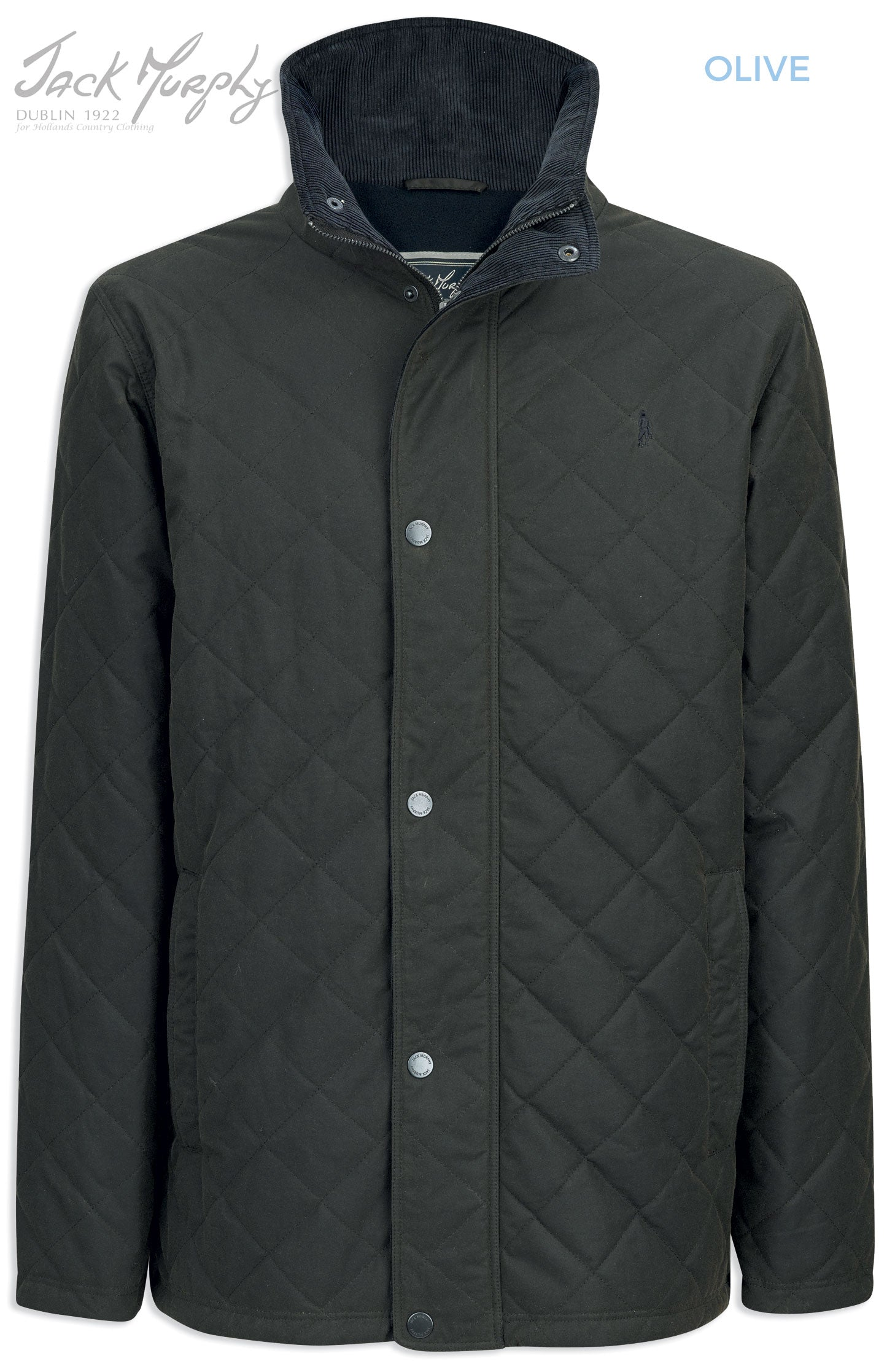 Jack Murphy Max Quilted Wax Jacket in green