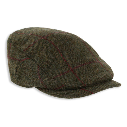 Heather Maxwell Tweed Bond Cap | Green, Wine Check