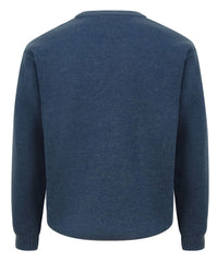 Back View Blue Melrose Crew Neck Country Sweater by Hoggs of Fife