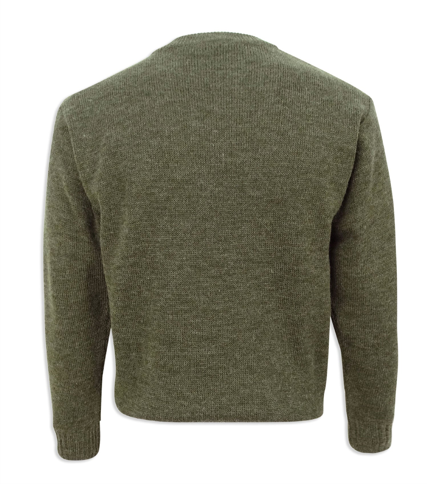 Back view classic country style sweater