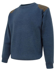 Navy Melrose Crew Neck Country Sweater by Hoggs of Fife