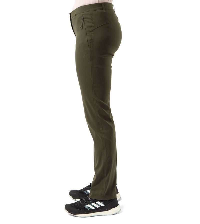 Khaki Green side Ladies Kiwi Pro II Trousers by Craghoppers