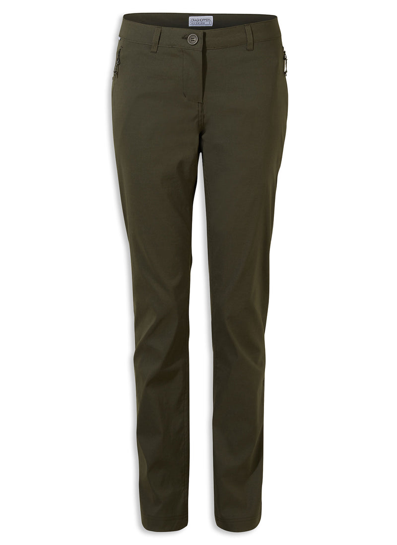 Mid Khaki Craghoppers Kiwi Pro II Ladies Trousers