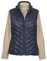 worn with brook shirt Millie Ladies Lightweight Baffle Quilt Waistcoat
