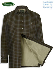 showing lining Champion Milton Micro Fleece Lined Shirt
