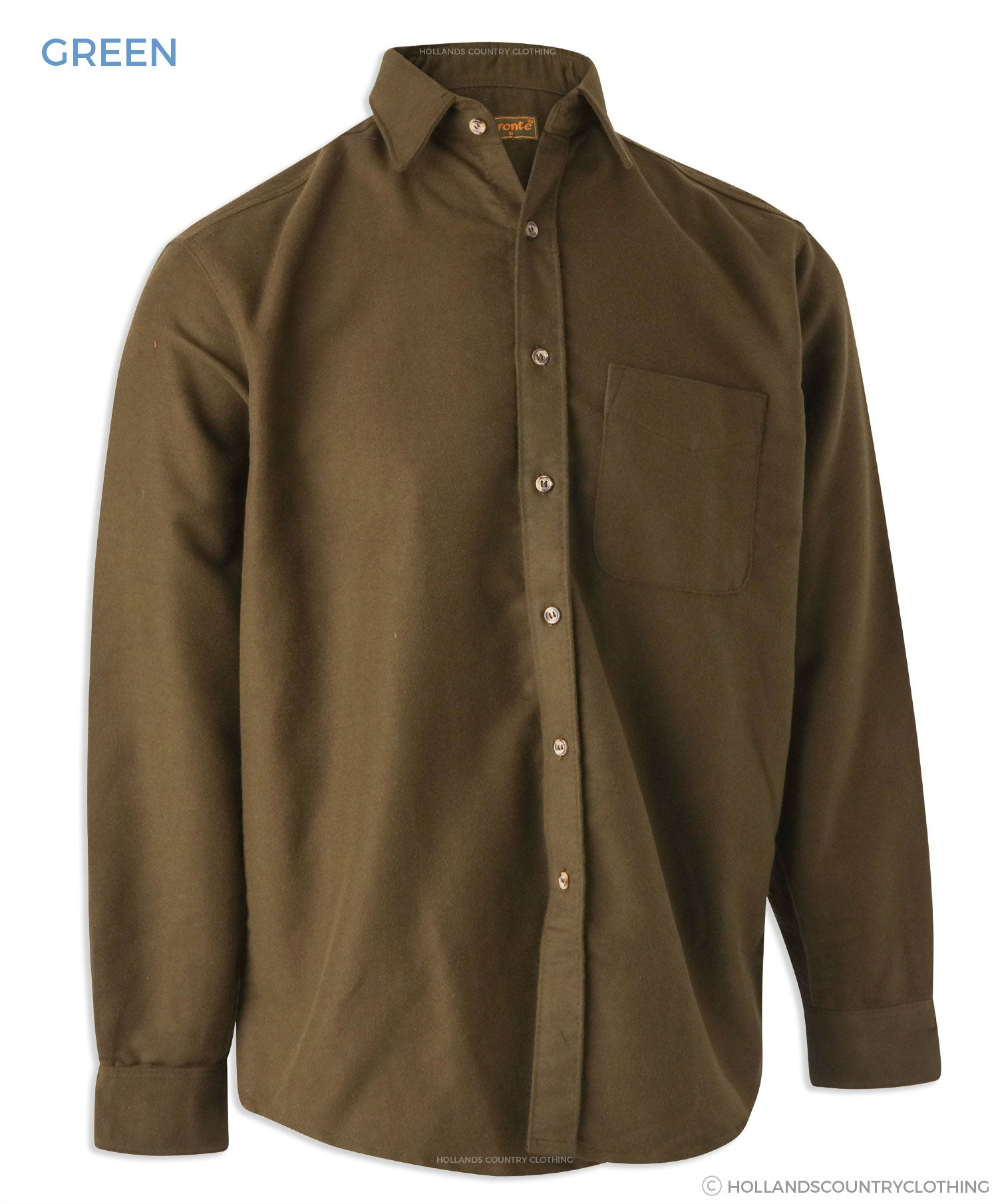 superior quality Bronte Moleskin Country Shirt.Green