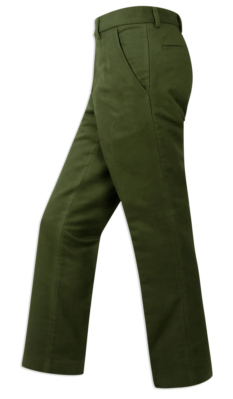 Striding out in Hoggs of Fife Monarch Moleskin Trousers