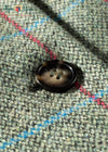 Button detail moss tweed