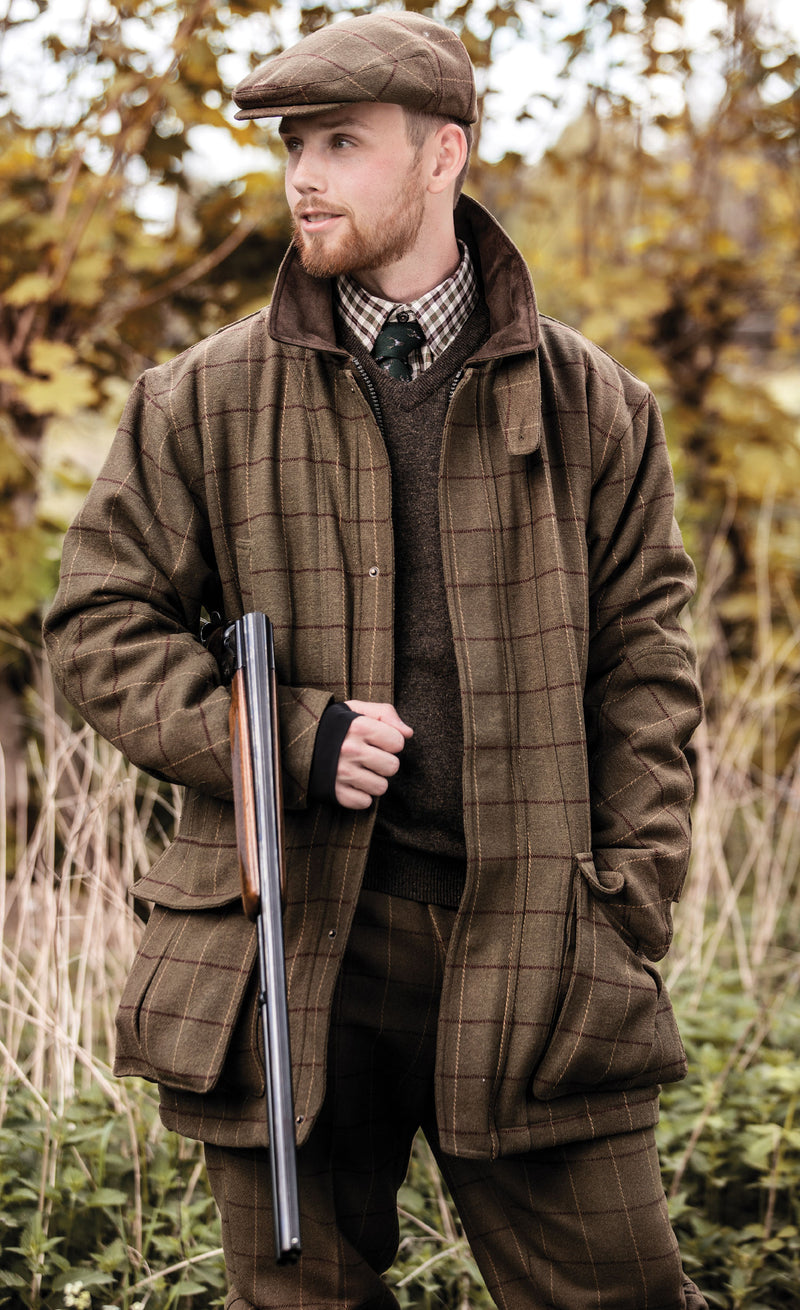 high performance shooting jacket with the classic tweed look