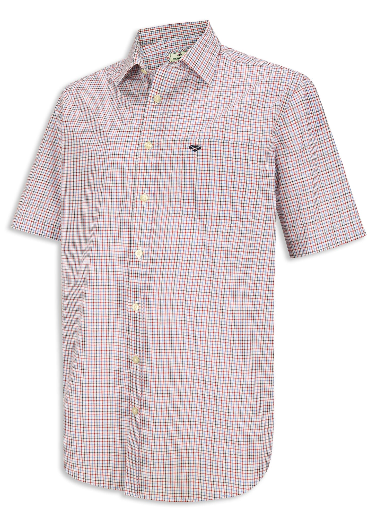 Blue Red Hoggs of Fife Muirfield Short Sleeve Shirt