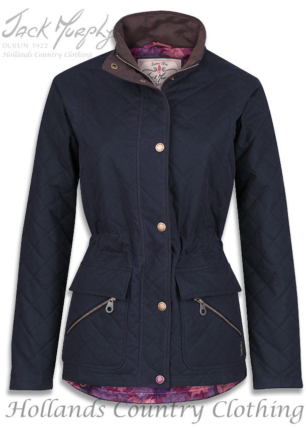 Navy Jack Murphy Omogen Women's Waxed Cotton Jacket