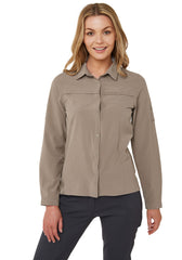 Mushroom Craghoppers NosiLife Pro II Ladies Long Sleeve Shirt