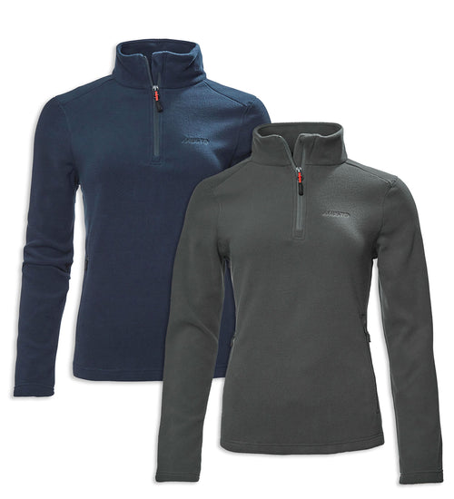 Musto Ladies Corsica 100gm Half Zip Fleece | Dark Grey, Navy