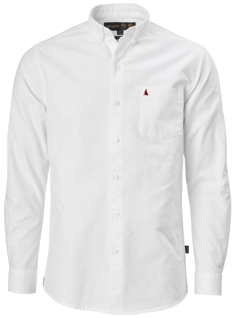 Musto Aiden Long Sleeve Oxford Shirt | White