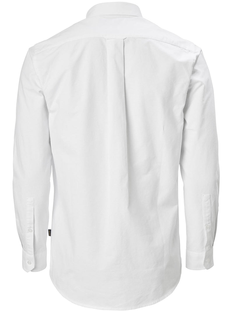 White Musto Aiden Long Sleeve Oxford Shirt