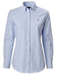 Pale Blue Musto Ladies Oxford Long Sleeve Shirt