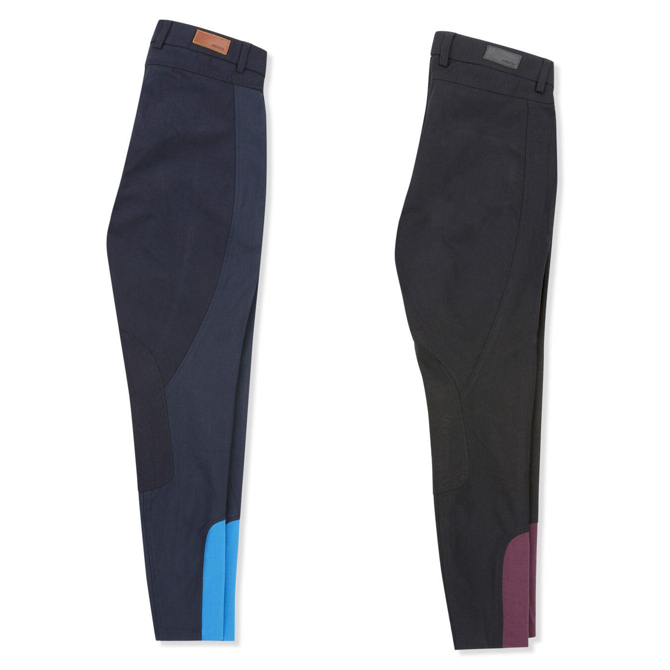 Navy and Black Musto Ladies Essential Breeches