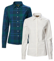 Ladies Country Shirt by Musto | Cotswold  Green Highland NavyGreen,